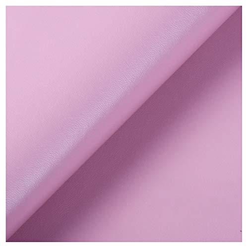 ZSFBIAO Hoja de Cuero de Imitacióntela por Metros Cuero Imitación Tela PUpara Hacer Lazos para el Pelo Pendientes y Manualidades-Rosa 1.38×3m