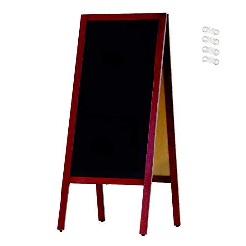 KMA URISAPO [ブラックボード] A型看板 110L 両面黒板 (磁石4個付) マーカー専用 木製 立て看板 ウェルカムボード ウリサポ