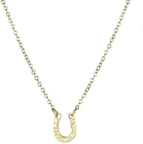 MGBDXG Co.,Ltd Collar Collares Pendientes en Forma de U de Acero Inoxidable Collar de pezuña de Caballo Collar Colgante de Herradura Rosa