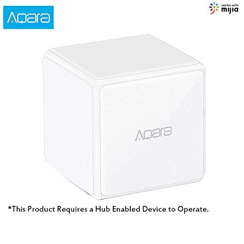 Aqara Magic Cube Controller Versione Zigbee controllata da Sei azioni per Smart Home Device Funziona con Mijia e Apple HomeKit App