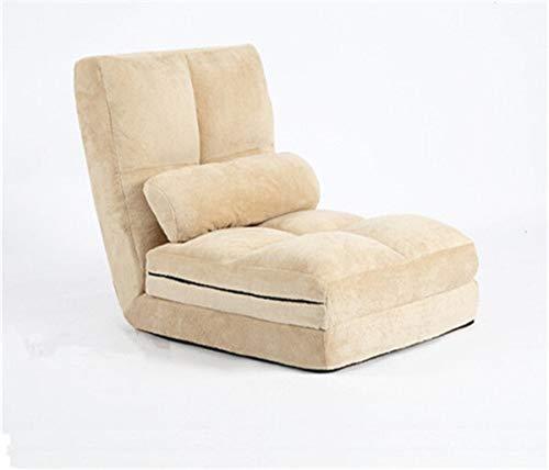 NZQDBYSilla de Piso Sofá Cama Plegable futón sofá Convertible Piso Solo Asiento Perezosos sillón baño de Sol for los huéspedes Silla Suelo del Dormitorio (Color : C)