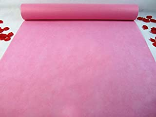 Non Woven Wedding Aisle Runner Pink 3×33 ft Aisle Floor Runner Aisle Decorations for Wedding Party Special Occasions