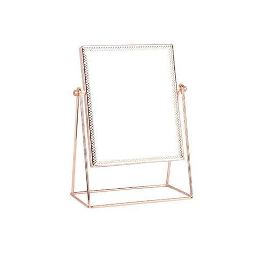 AJIHFD 360 graden Rotatie Decoratieve Tafel Aanrechtblad Vanity Spiegels Eenzijdige Vanity gouden Make-up Spiegel Stand@China_A2