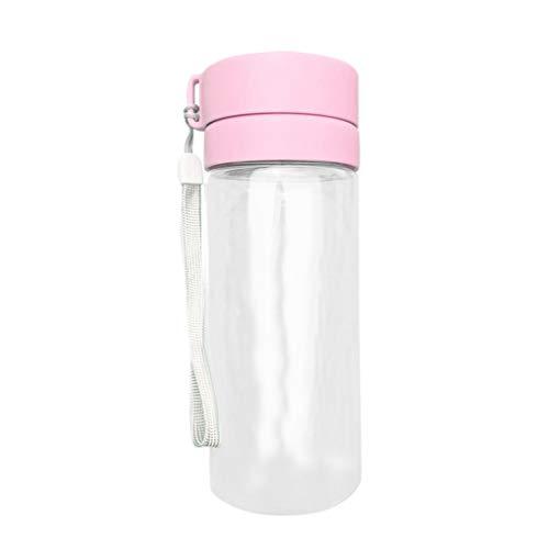 rongweiwang 600ml Arbeiten Sie einfaches Kunststoff-Wasser Trinkflasche 600ml Trinken 600ml großen Kapazitäts-Flaschen-Leak Proof Sport im Freien Tee-Cup