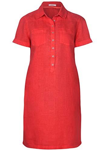Cecil Damen Polo-Kleid aus Leinen Sizzling Coral red XXL