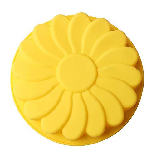 Kuchen machen Pfannen Runde Silikon-Chiffon-Kuchen-Form Ofen backen Werkzeuge (Farben zufällig) Material: Silikon Größe: 23 * 23CM, wie Apicture,