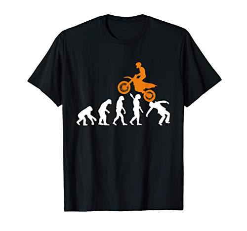 Motero Motociclista Motocross Supercross Enduro Evolución Camiseta