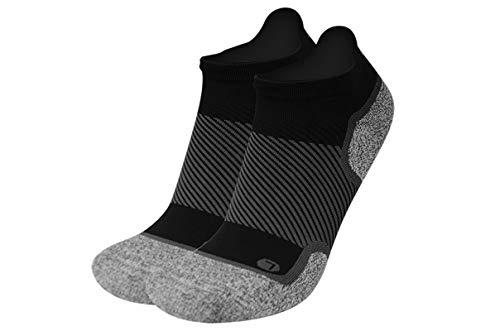 OrthoSleeve WC4 Wellness Socks for Diabetes,Edema,Neuropathy & Circulation (Noshow, Large, Black, 1 Pair)