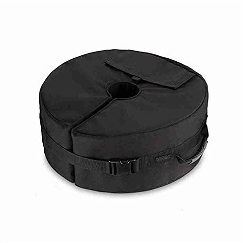 Soporte para sombrilla y bases para patio al aire libre con base de peso, resistente a la intemperie, para sombrillas, bolsas de arena, base fija, herramienta para bolsa de arena