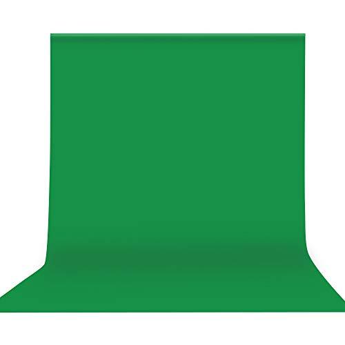 Andoer Fondo fotográfico 2 x 3 Metros, Croma Verde Fondo, Telón de Fondo de Pantalla Lavable para Estudio fotográfico para Fotografía, Vídeo y Televisión Green Screen