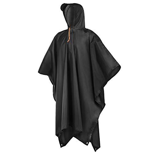 Rain Ponchos for Adults Men Women Hooded, Reusable Rain Coats for Camping