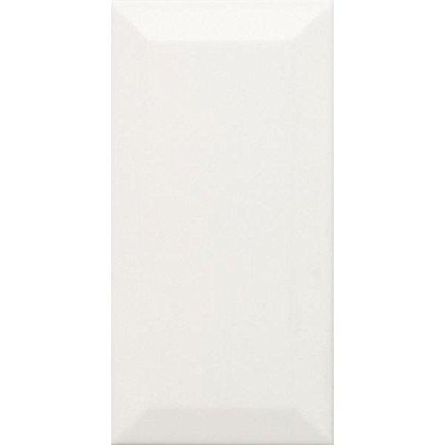 1 QM Metro Fliesen Keramikmosaik Facette Fliese Weiß Matt