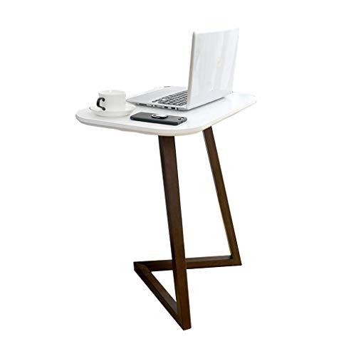 Lapdesks Laptop Tisch Bambus Laptop Tisch Geometrie Vertikale Schreibtisch Sofa Couchtisch Seite Couchtisch Tischchen (Color : Weiß, Size : 60 * 50 * 65cm)