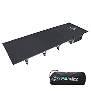"""FE Active Folding Camping Cot 27.5"""" Width"""