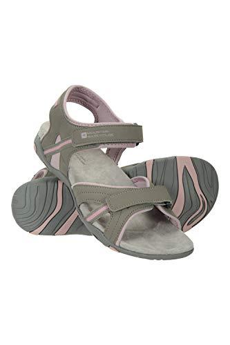 Mountain Warehouse Sandalias Oia Mujer - Zapatos Ligeros de Verano, Flexibles, Espuma amortiguadora, Cierre de Gancho y Bucle - para Caminar, Viajar, el Verano Rosa Talla Zapatos Mujer 38 EU
