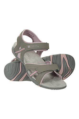 Mountain Warehouse Oia Sandalen für Damen - Leichte Sommerschuhe, Flexible Flipflops, Schaumpolsterung, Klettverschluss - Für Frühlingsspaziergänge, Reisen, Pool Rosa 40 EU
