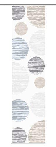 Home Fashion 87533-760 Schiebevorhang Digitaldruck Borden, Seidenoptik, 245 x 60 cm, Stein