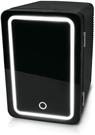 Personal Chiller Led Lighted Mini Fridge Dry erase surface keeps warm or cold for in house or product image