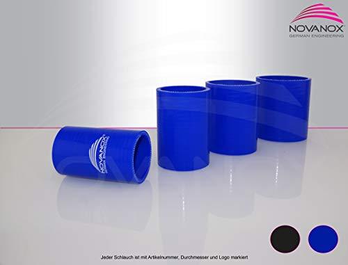Tubo de Silicona Recto de 60 mm de diámetro, Color Azul, Flexible