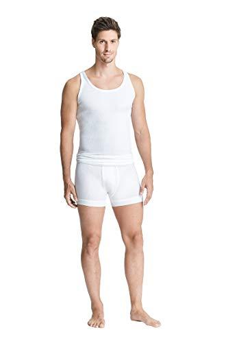 con-ta DOPPELRIPP Unterhemd, Unterwäsche für Herren, Unterhemd mit perfektem, Achselshirt aus weicher Baumwolle, Weiß | Einzelpack, XL