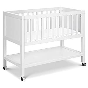 DaVinci Archie Portable Bassinet in White, Greenguard Gold Certified