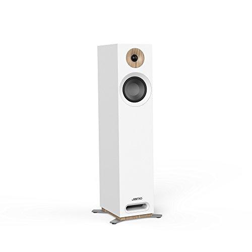Jamo S 805 W PAR 160 W Weiß Lautsprecher – Lautsprecher (2.0 Kanäle, kabelgebunden, 160 W, 49 – 26000 Hz, 8 Ohm, weiß)