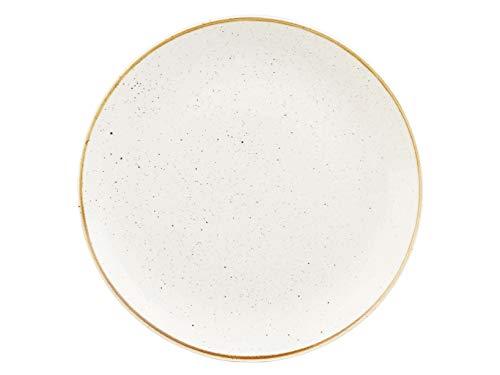 Churchill 375091 Stonecast - Plato llano (porcelana, 29 cm), color blanco