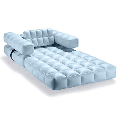 Pigro Felice - Modul'Air 3-in-1 Pool - Aufblasbare Sonnenliege - Luftmatratze - Sitzkissen - Widerstandsfähige Materialien - Lange Lebensdauer - Premium - Azurblau