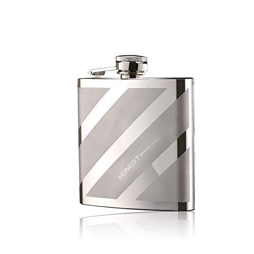 6 Onzas Petaca De Acero Inoxidable con Embudo Y Caja De Regalo,para Guardar Whisky/Alcohol,B