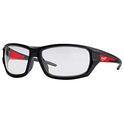 Milwaukee 48-73-2020 - Gafas de seguridad con lentes transparentes, lente antivaho ⭐