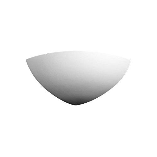 Austrolux 588.64 A, Wandleuchte, Keramik, Weiß, 21 x 20 x 9 cm