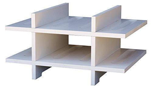 Expovinalia Porte-Bouteilles pour 8 Bouteilles, MDF, Blanc, 40 x 28 x 6 cm
