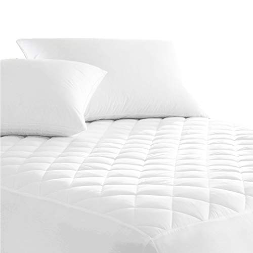 Australian Made Fully Fitted Cotton Quilted Mattress Protector Machine Washable (All Size) (King Single)