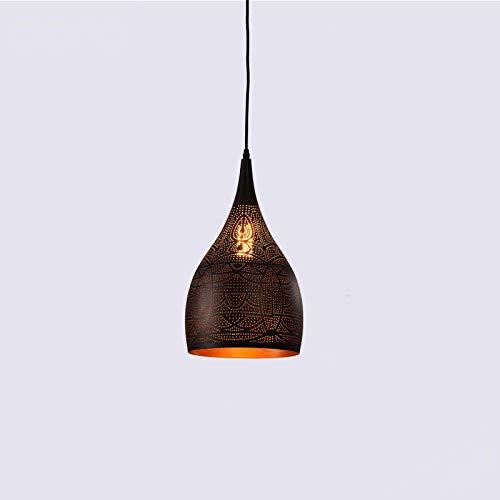 Comedor lámpara personalidad simple barra lámpara dormitorio faros de hierro lámpara de araña sala de araña lámpara de araña LED lámpara de araña candelabro