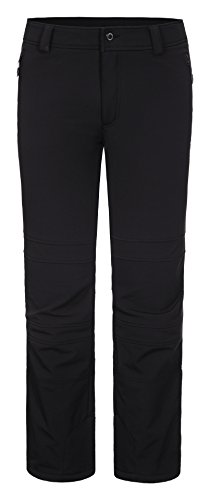 LUHTA heren jetbroek softshell broek - slim fit skibroek tani, zwart