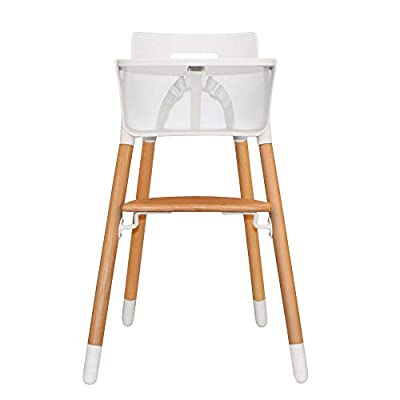 Asunflower Wooden High Chair Adjustable Feeding Baby Highchairs Solution with Tray for Baby/Infants/Toddlers