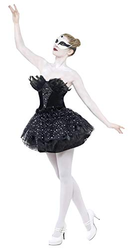 Smiffys-27313S Disfraz de Cisne Negro gótico, con Vestido, Color, S-EU Tamaño 36-38 (Smiffy