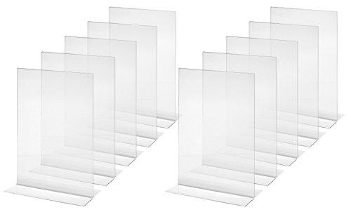 Sigel TA220 Mesa de Pie Recta, para A4, 10 Piezas, Acrílico Cristalino - Otros Tamaños