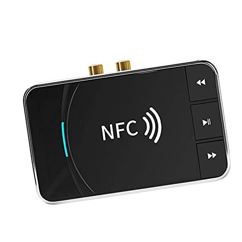 B Blesiya Receptor Transmisor Bluetooth 5.0 2 en 1, Transmisor Receptor Bluetooth 5.0 FM Estéreo Adaptador Inalámbrico Recargable Salida Estéreo AUX de 3.5mm