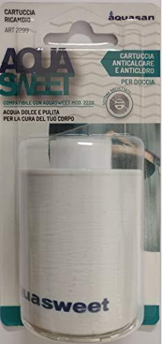 Aquasan 2299 Cartuccia di Ricambio per Filtro Doccia Aquasweet, Bianco