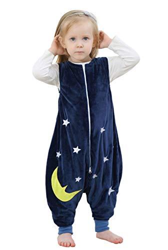 Bleu B/éb/é Filles Gar/çons Pyjamas Grenouill/ère Combinaison sans Manches Taille 1-3 ans Happy Cherry