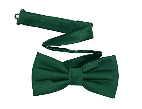 TINYHI Men's Classic Pre-Tied Formal Tuxedo Sliver Bowtie Dark Green One Size