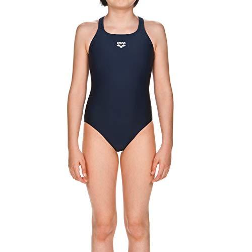 arena Mädchen Sport Badeanzug Dynamo (Schnelltrocknend, UV-Schutz UPF 50+, Chlor- /Salzwasserbeständig), blau (Navy), 140