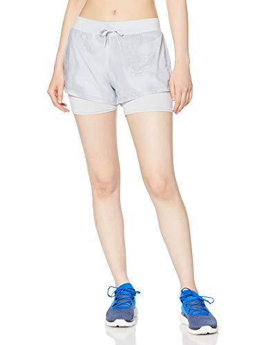 Under Armour Women's Run Speedpocket 2-in-1 Weightless Running Shorts, Halo Gray (014)/Reflective, Medium