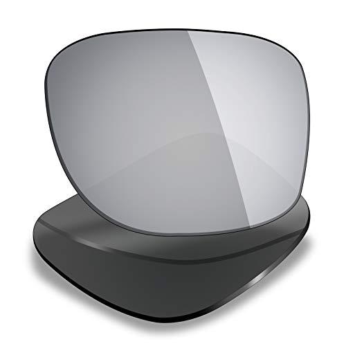 Mryok Ersatzgläser für Oakley Triggerman, Silber (Polarisiert – Silber Titan), Einheitsgröße