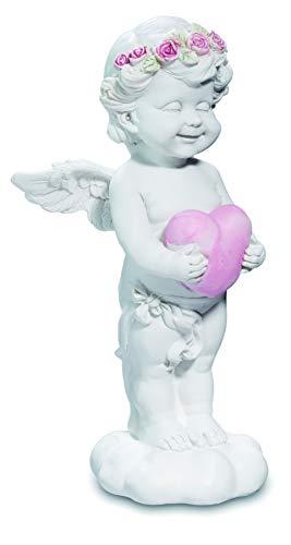 Reproduction - Figura decorativa de resina con forma de ángel con corazón 18/9,2/7,4 cm