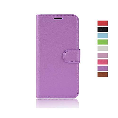 cookaR Cubot X19 Handy Hülle Tasche Flip Hülle Kredit Karten Fach Geldklammer Leder Handy Schutzhülle Unsichtbar Magnet Verschluss Standfunktion,Violet