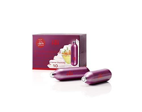 iSi Sahnekapseln für Stickstoffoxid Sahnegerät (10er Pack)