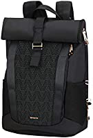 Samsonite 2Wm Lady - Roll Top Laptop Sac à Dos, 42 cm, 16 L, Noir (Black)