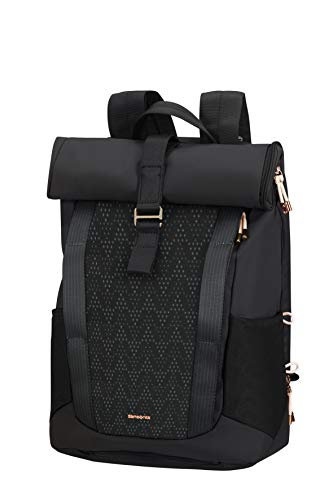 SAMSONITE 2WM Lady - Roll Top Laptop Rucksack, 42 cm, 16.0 Liter, Black